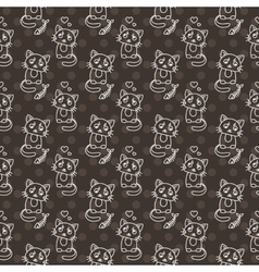 Seamless pattern of cute cat characters Pet in vector image vector image