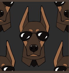 Seamless pattern with image a character dog vector