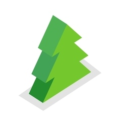 Spruce tree in isometric projection vector