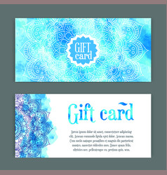 Template gift cards ornament vector