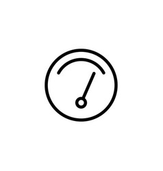 thin line gauge icon vector image