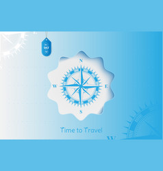 time to travel banner with sale and special offer vector image