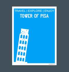 tower of pisa italy monument landmark brochure vector image