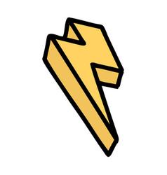 Traditional tattoo lightning bolt vector