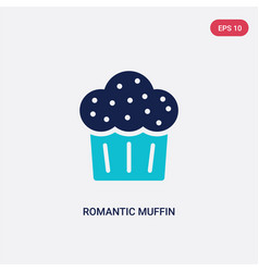 two color romantic muffin icon from food concept vector image