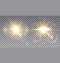 Two sparkling star explosions vector