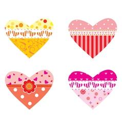 Valentines hearts vector