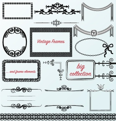 vintage frames calligraphic collection borders vector image