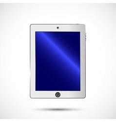 White digital tablet vector image