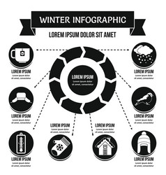 Winter infographic concept simple style vector