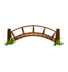 Wood bridge icon cartoon style vector