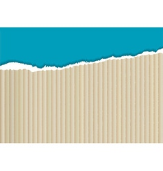 Cardboard torn edge vector