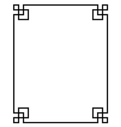 china border frame vector image vector image