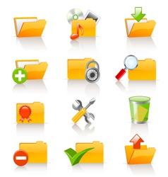 computer folders set vector image