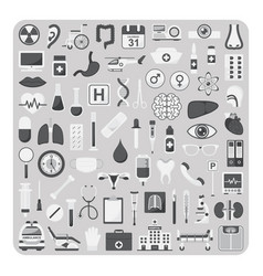 flat icons medical set vector image