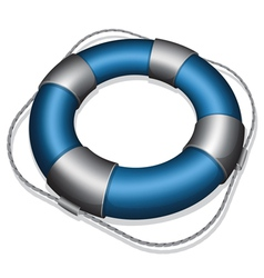 marines blue life buoy vector image