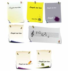 note pages vector image vector image