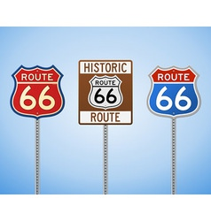 Route 66 Vintage Signs vector image