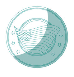 Seal stamp with usa flag icon vector