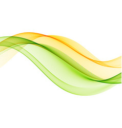 abstract background with yellow green vector image