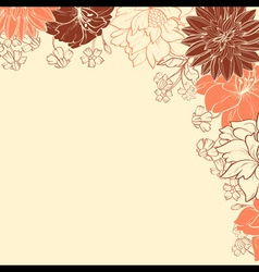 Automn flowersVS vector image