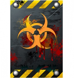biohazard sign vector image vector image