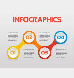 horizontal text steps infographics - can vector image vector image