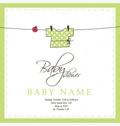 baby arrival card vector image