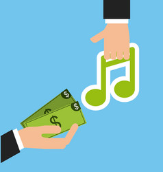 mobile music commerce online vector image vector image