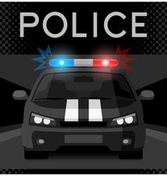 Police car with flash light vector