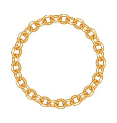 round frame - gold chain on the white background vector image vector image