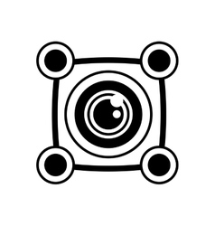 vr 3d camera panorama outline vector image vector image
