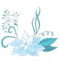abstract blue flower vector image