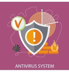 Antivirus system vector image