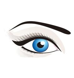 Beautiful blue eye vector image vector image