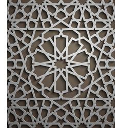 islamic ornament persian motiff 3d vector image vector image