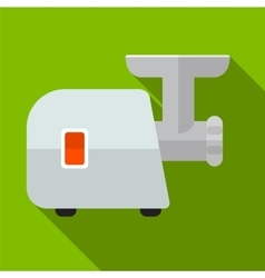 Meat grinder flat icon vector image vector image