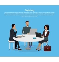 Training staff briefing vector