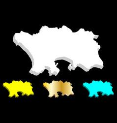 3d map jersey vector