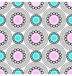 Abstract geometric background Circles seamless vector image