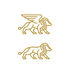 Abstract lion luxury design template vector