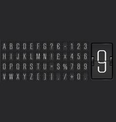 Airline flip board light alphabet to display vector