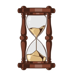 Antique Sand Hourglass vector image