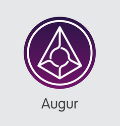 Augur - virtual currency web icon vector