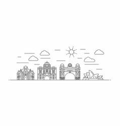 australia panorama line style vector image