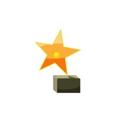 Award star icon cartoon style vector image