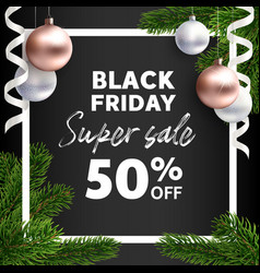 banner black friday sale flyer template vector image