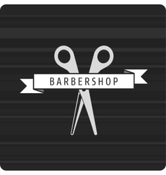 Barbershop logo scissors vector image