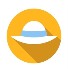 Beach hat flat icon vector image