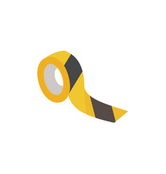 black and yellow security tape vector image